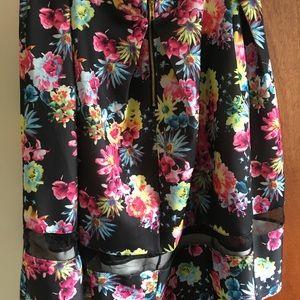 torrid Skirts - Torrid Floral Scuba mesh inset skater skirt